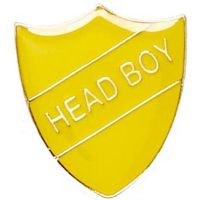 ShieldBadge Head Boy Yellow</br>SB017Y